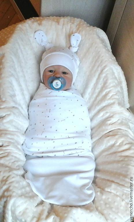 """Для новорожденных, ручной работы. Ярмарка Мастеров - ручная работа. Купить Комплект для новорожденного """"Нежность"""" 4пр. Handmade. Белый, для новорожденных"""