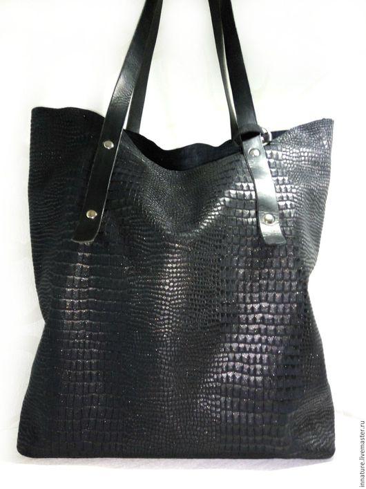 Женские сумки ручной работы. Ярмарка Мастеров - ручная работа. Купить Сумка ,натуральная кожа, большая , шоппер Casual. Handmade.