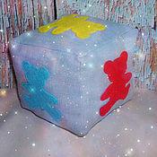 Куклы и игрушки ручной работы. Ярмарка Мастеров - ручная работа Развивающий кубик для изучения цвета. Handmade.