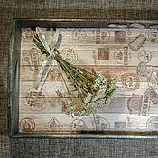Для дома и интерьера ручной работы. Ярмарка Мастеров - ручная работа Поднос из набора Винные пробки. Handmade.