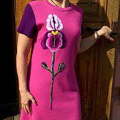 """Одежда ручной работы. Ярмарка Мастеров - ручная работа Трикотажное платье """"Ирис"""". Handmade."""