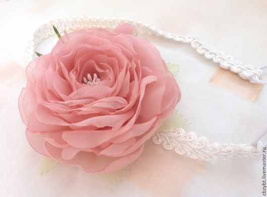 """Диадемы, обручи ручной работы. Ярмарка Мастеров - ручная работа. Купить Цветы из ткани. повязка для волос """" Roses de Chloe"""". Handmade."""