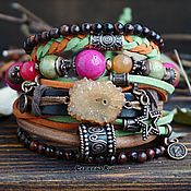 Украшения handmade. Livemaster - original item BOHO-chic bracelet with jasper