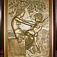 Ню ручной работы. Ярмарка Мастеров - ручная работа. Купить Девушка и Купидон. Handmade. Панно, барельеф, золотой, эротика, для дома
