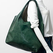 Сумки и аксессуары handmade. Livemaster - original item Bag-bag made of genuine leather, olive.. Handmade.