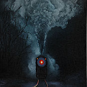 """Картины и панно ручной работы. Ярмарка Мастеров - ручная работа Картина """"Паровоз"""". Handmade."""