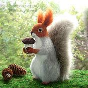 Куклы и игрушки handmade. Livemaster - original item Winter squirrel – toy interior / protein felted wool /felt. Handmade.