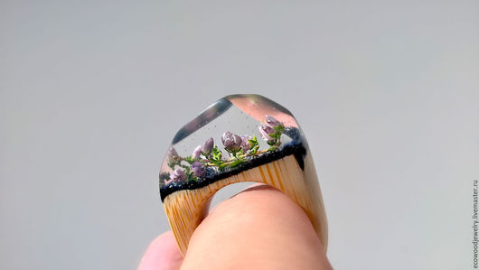 """Кольца ручной работы. Ярмарка Мастеров - ручная работа. Купить Деревянное кольцо """"Wooden flower"""". Handmade. Кольцо, кольцо с цветком"""