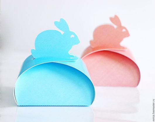 """Подарочная упаковка ручной работы. Ярмарка Мастеров - ручная работа. Купить """"Кролик"""" упаковка. Handmade. Комбинированный, упаковка, бонбоньерка, зайка"""
