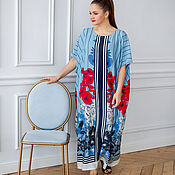 Одежда handmade. Livemaster - original item Chic floor-length oversize viscose dress