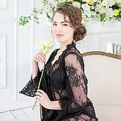 Одежда handmade. Livemaster - original item Lace gown with long sleeves handmade. Handmade.