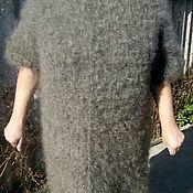 Пуховый кардиган, серый