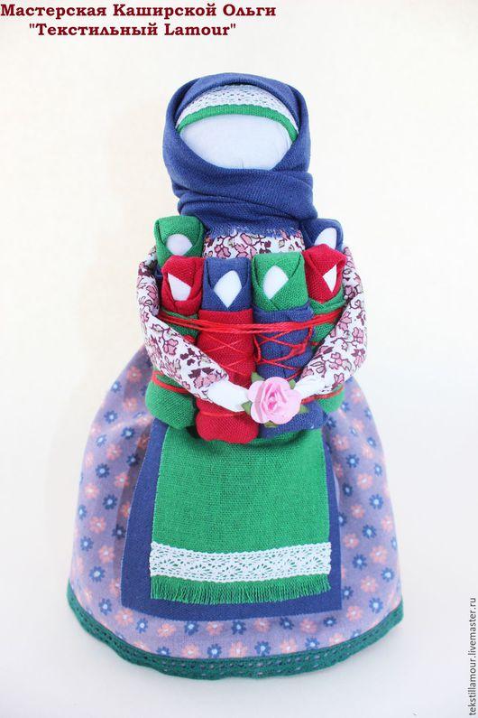 """Народные куклы ручной работы. Ярмарка Мастеров - ручная работа. Купить Кукла """"СЕМЬЯ"""". Handmade. Тёмно-синий, народные традиции"""