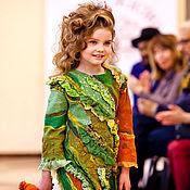 """Работы для детей, ручной работы. Ярмарка Мастеров - ручная работа Войлочное платье для девочки """"Лесная фея"""". Handmade."""