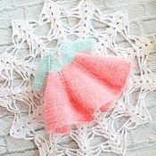 Куклы и игрушки handmade. Livemaster - original item Dress for Blythe made from the wool of mink. Handmade.