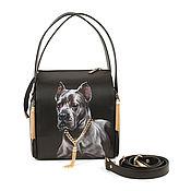 Сумки и аксессуары handmade. Livemaster - original item Leather bag square
