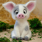 Куклы и игрушки handmade. Livemaster - original item Felted toy Pig. Handmade.