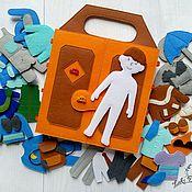 Куклы и игрушки handmade. Livemaster - original item Doll boy felt set of clothes. Handmade.