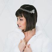 Свадебный салон handmade. Livemaster - original item Double wedding scallop. Decoration for hair.. Handmade.
