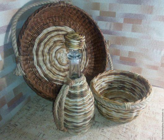 """Кухня ручной работы. Ярмарка Мастеров - ручная работа. Купить Кухонный набор """"Оттенки мокко"""". Handmade. Плетение из бумаги"""