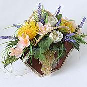Цветы и флористика ручной работы. Ярмарка Мастеров - ручная работа Подарочная сумочка с цветами искусственные цветы. Handmade.