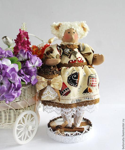 Ароматизированные куклы ручной работы. Ярмарка Мастеров - ручная работа. Купить Кофейная Толстушка Милочка.. Handmade. Комбинированный, подарок