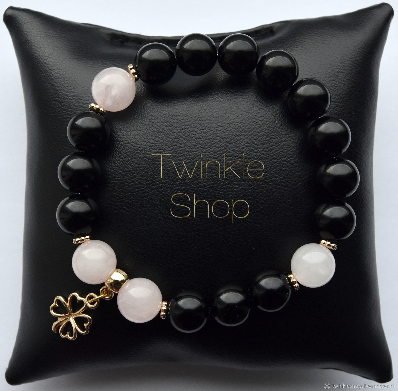 Bracelet agate and quartz Clover, Bead bracelet, Moscow,  Фото №1
