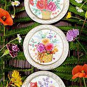 Винтаж handmade. Livemaster - original item Vochenstrauss(JohannSeltmann).Collectible plates.. Handmade.