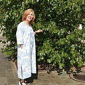 Одежда ручной работы. Ярмарка Мастеров - ручная работа Платье изо льна  Стеша  3084. Handmade.