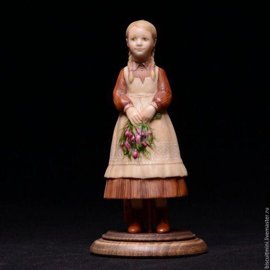Коллекционные куклы ручной работы. Ярмарка Мастеров - ручная работа. Купить Тоня с весенним букетом. Handmade. Комбинированный, коллекционный колокольчик