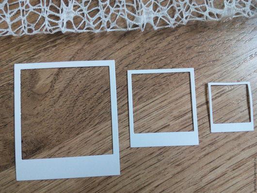 Открытки и скрапбукинг ручной работы. Ярмарка Мастеров - ручная работа. Купить !Вырубка для скрапбукинга -Рамки-Полароид- дизайнерский картон. Handmade.