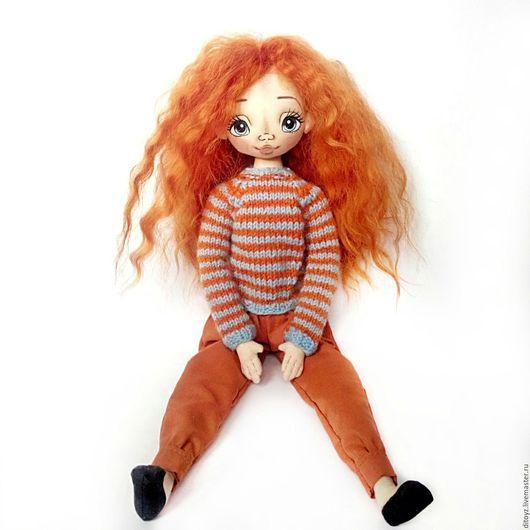 Коллекционные куклы ручной работы. Ярмарка Мастеров - ручная работа. Купить Кукла текстильная Агния, 40 см. Handmade.