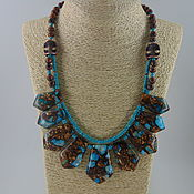 Украшения handmade. Livemaster - original item Necklace made of stones-variscite, aventurine.howlite
