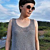 Одежда ручной работы. Ярмарка Мастеров - ручная работа Топ из летнего твида с шелком. Handmade.