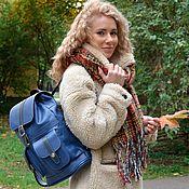 Сумки и аксессуары handmade. Livemaster - original item Backpack leather female blue Ultramarine Mod P12-171. Handmade.