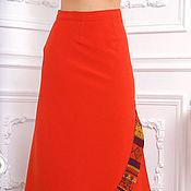 Одежда ручной работы. Ярмарка Мастеров - ручная работа Юбка макси 95 см из итальянской шерстяной ткани K3N. Handmade.