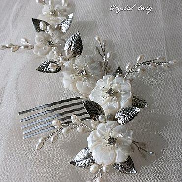 Свадебный салон ручной работы. Ярмарка Мастеров - ручная работа Гребень для прически невесты. Handmade.