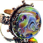 Украшения handmade. Livemaster - original item Ring After the rain lampwork. Handmade.