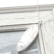 Украшения ручной работы. Ярмарка Мастеров - ручная работа Кулон белый перламутр подвеска на цепочке серебро лето. Handmade.