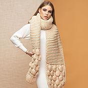 handmade. Livemaster - original item Gift to a woman-a large beige scarf. Handmade.