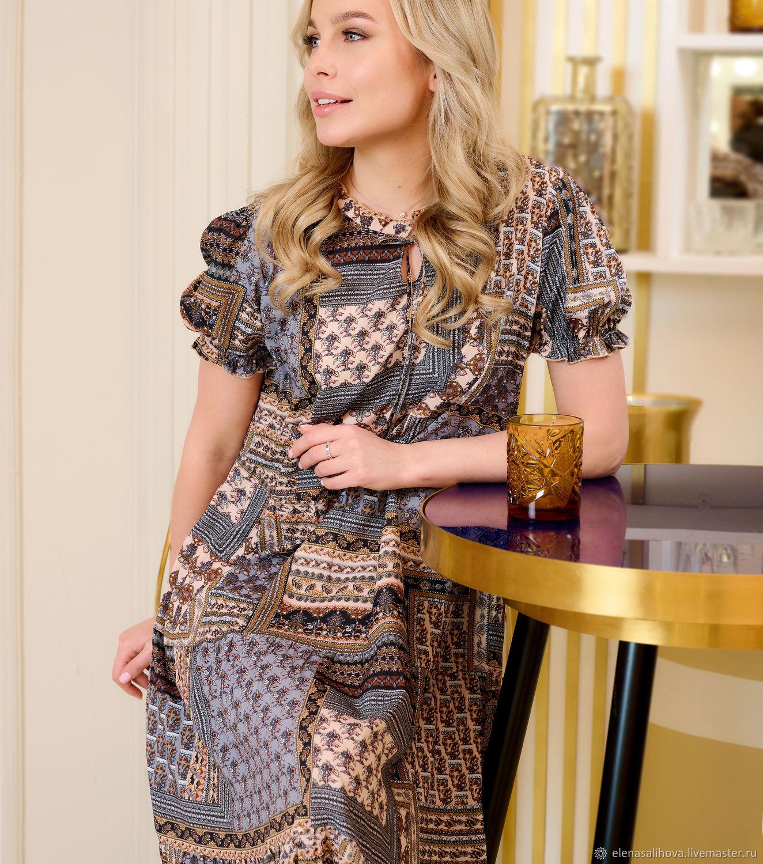 Платье из итальянского крепа с ярусами, Платья, Москва,  Фото №1