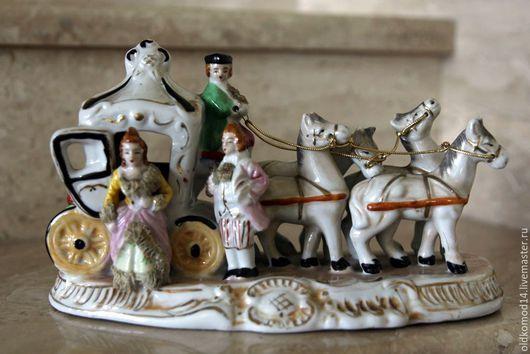 Винтажные предметы интерьера. Ярмарка Мастеров - ручная работа. Купить Винтажная конная статуэтка. Handmade. Комбинированный, статуэтка