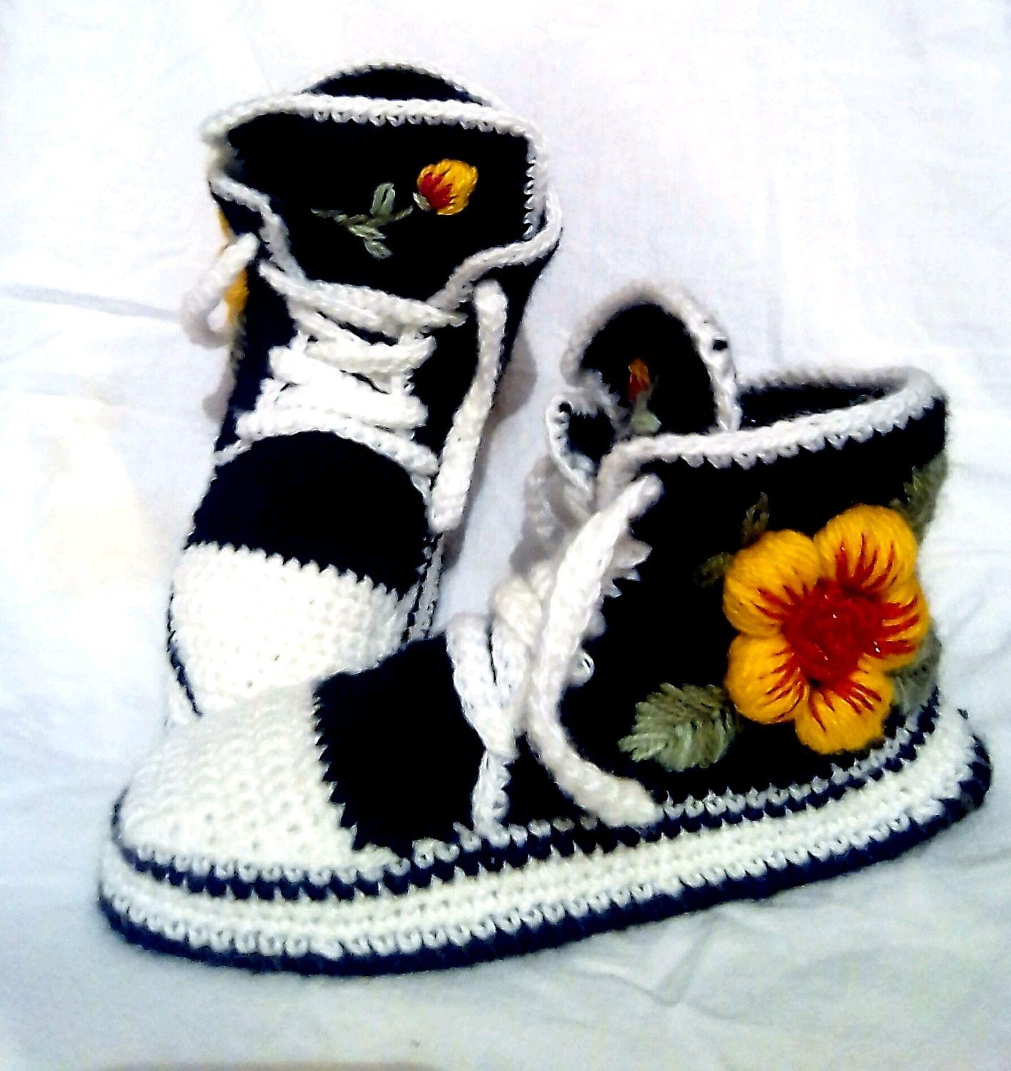 Вязаные кеды с вышивкой, Обувь, Тюмень, Фото №1
