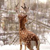 Если верить, Сказка оживет - Лесной олень, елочная игрушка из ваты