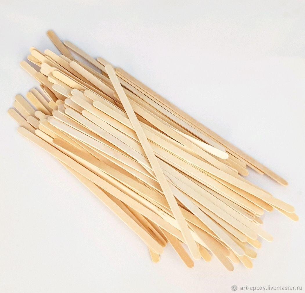 Деревянные палочки, 100 шт, Эпоксидная смола, Волгоград,  Фото №1