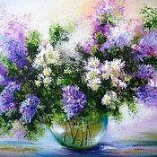 Картины и панно handmade. Livemaster - original item Original acrylic painting on canvas flowers. Handmade.