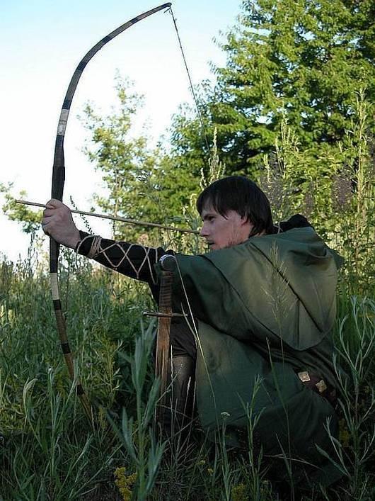 """Для мужчин, ручной работы. Ярмарка Мастеров - ручная работа. Купить Cредневековый костюм """"Лучник"""". Handmade. Тёмно-зелёный, хлопок"""