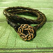 Украшения handmade. Livemaster - original item Bracelet winding leather Celtic knot. Handmade.
