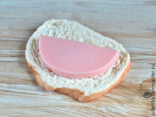 """Мыло ручной работы. Ярмарка Мастеров - ручная работа. Купить Мыло """"Бутерброд с колбасой"""". Мыльный хлеб!. Handmade. Мыло сувенирное"""