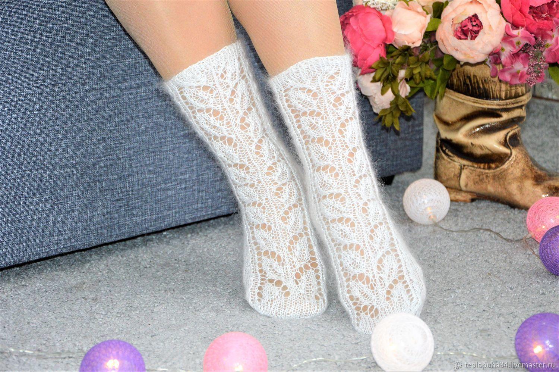 Openwork downy socks for women thin, Socks, Urjupinsk,  Фото №1